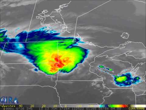 Intense storm system moving across the Dakotas and into Minnesota