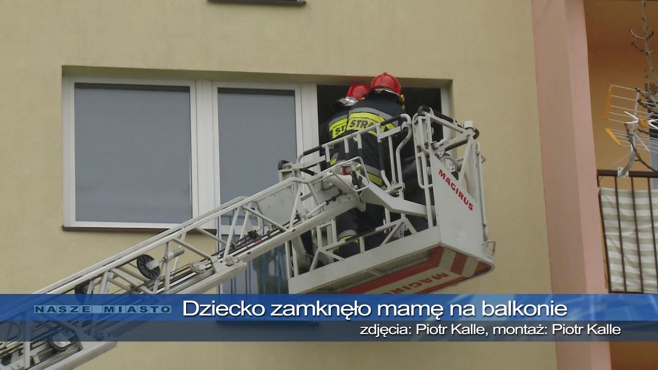 TKB – Dziecko zamknęło mamę na balkonie na 3 piętrze – 15.02.2018