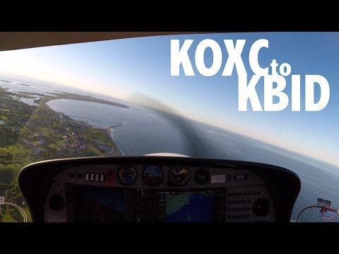 Flying to Block Island - Diamond DA40 - ATC Flight Following - Uncontrolled Field - KBID