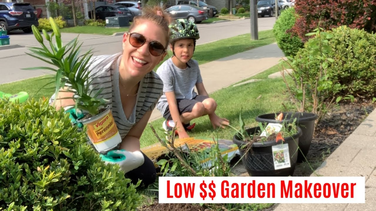finally  front yard gardening makeover - on a budget
