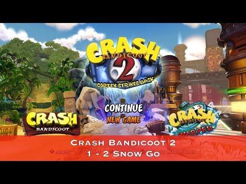 Crash Bandicoot 2 - 1 - 2 Snow Go - Сбор всех кристаллов