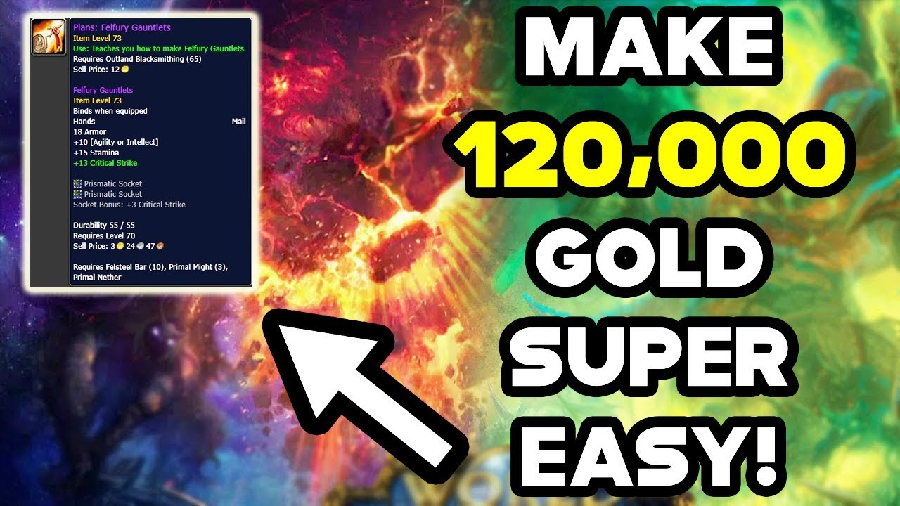 World Of Warcraft Gold Farm Make 120,000 Gold Super Easily