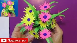 Подарок Маме Бабушке Своими Руками сделать Цветы Букет Бумаги Поделки  с детьми легко 8марта