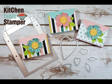 Lots of Love Box Framelits Half Treat Box for Spring and Easter with Kitchen Table Stamper