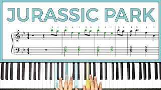 How to play the 'JURASSIC PARK' theme by John Williams on the piano -- Playground Sessions