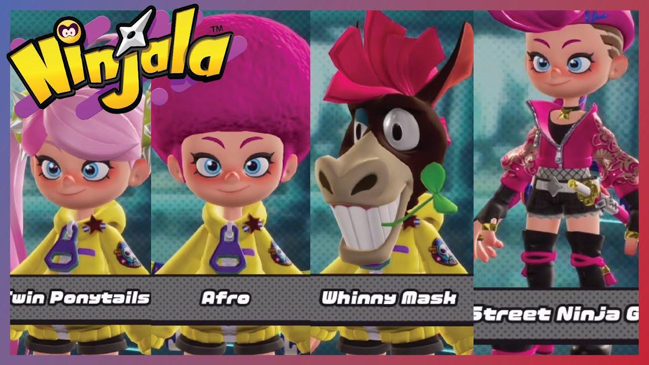 Ninjala Avatar Items And Customize Hair Face Color Voice Headgear Costume And More So Far Youtube