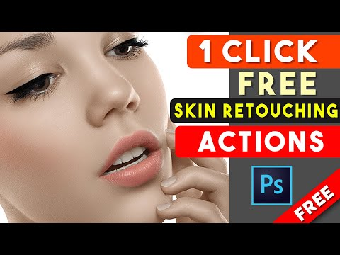1 Click Skin Retouching Free Photoshop Actions By Shazim Creations