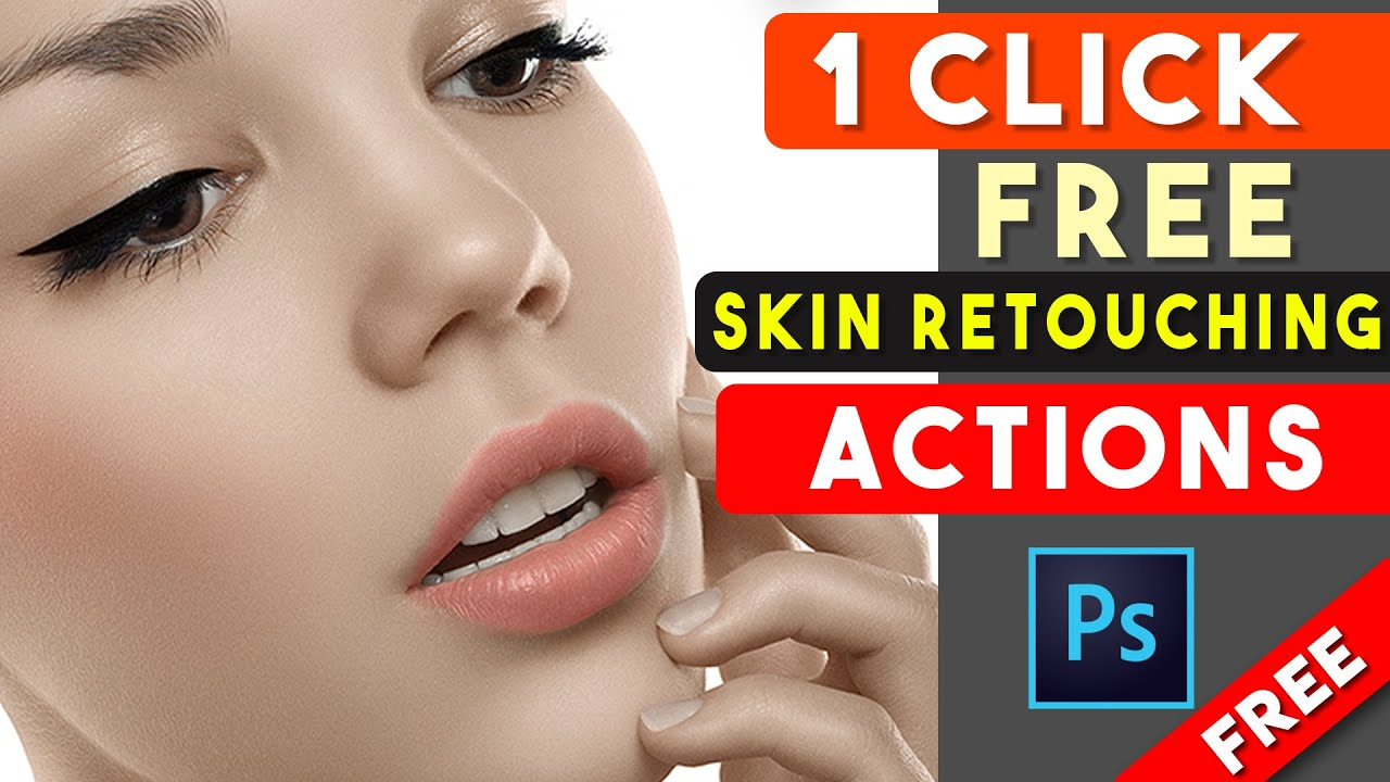 1 Click Skin Retouching Free Photoshop Actions By Shazim Creations ⏬