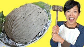 BEGGAR'S CHICKEN Recipe - cooking a whole chicken in CLAY | How to Make Clay From Dirt