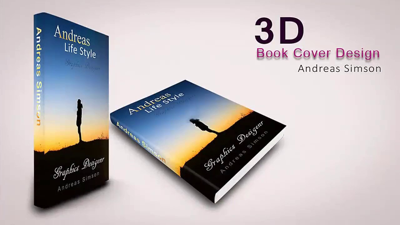 How To Make A Quick Book Cover ~ How to creat d book cover design in photoshop youtube