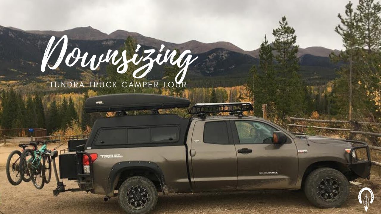Downsizing Truck Camping Setup Tour Youtube