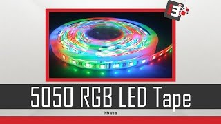 hml 5m smd 5050 rgb led tape light rgb color   unboxing