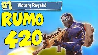 BOA SEXTA + RUMO 420 VITÓRIAS SOLO!! (Fortnite Battle Royale)