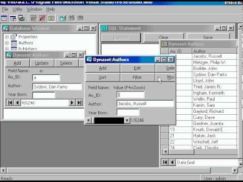 ربط الفيجوال بيزك 6 بقاعدة البيانات  Link Visual Basic 6 with DataBase 1