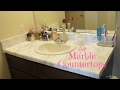 DIY  MARBLE COUNTERTOPS   bathroom remodel UNDER  25