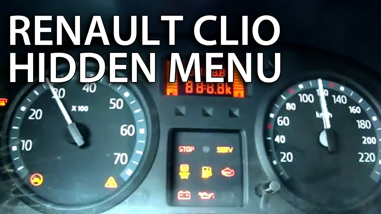 maxresdefault renault clio ii hidden test menu thalia dacia logan (gauges renault clio airbag wiring diagram at soozxer.org