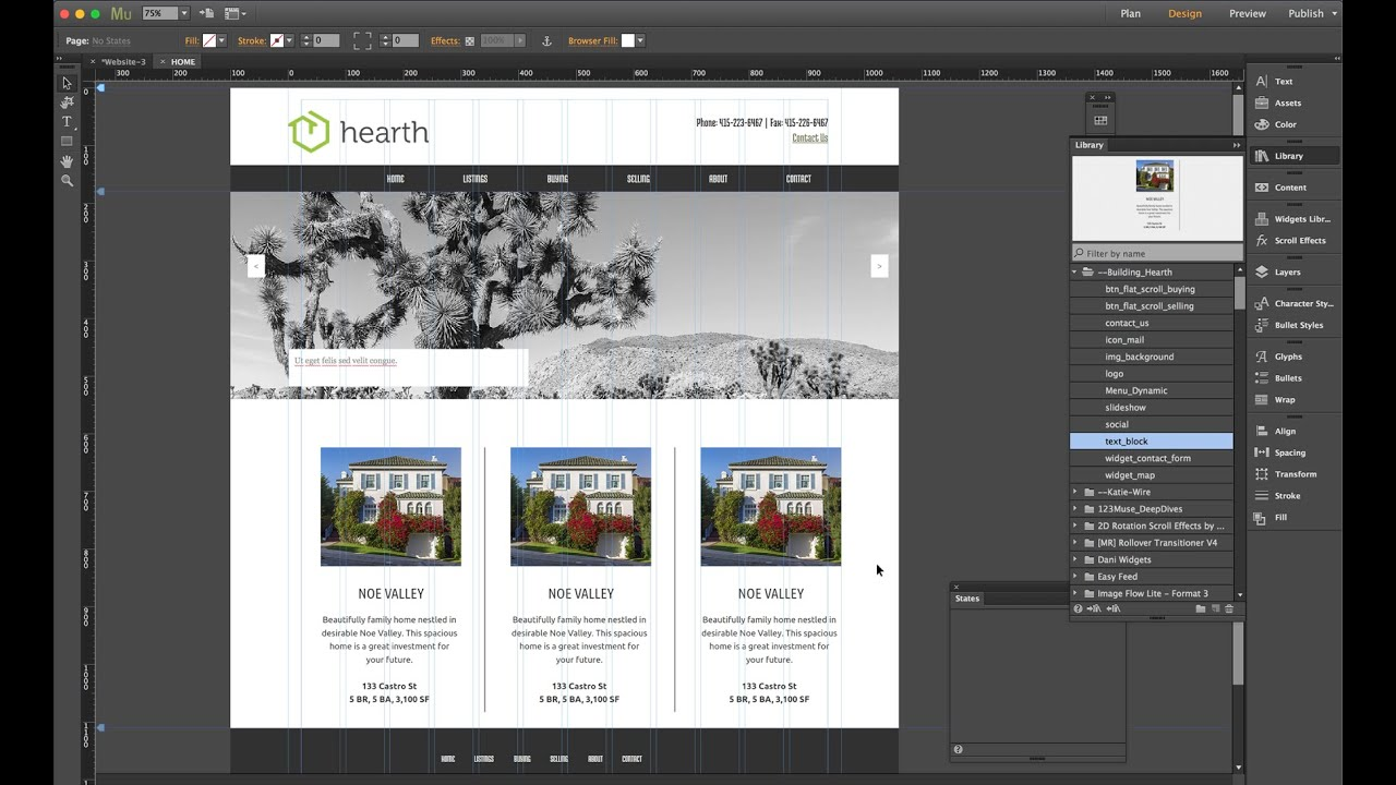 Muse jam adobe muse 101 building a website from scratch for Build a house website