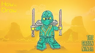 How to Draw the Green Ninja from Ninjago