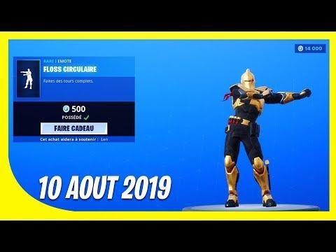 """boutique-fortnite-du-10-aout-2019-!-nouveau-""""floss""""-disponible-!"""