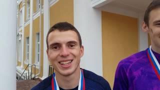 Призёры Чемпионата России-2017 - Данил Лысенко, Илья Иванюк, Никита Анищенков - прыжки в высоту