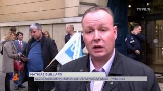 Colère des policiers : manifestations devant les Palais de Justice de France