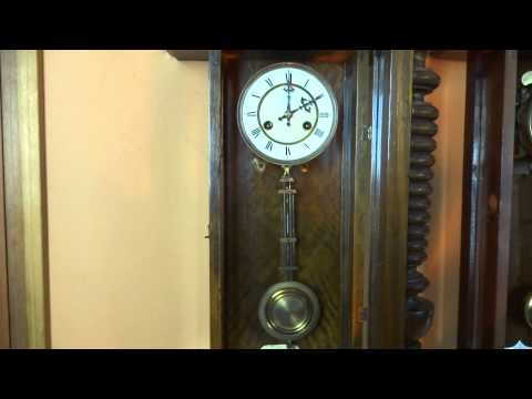 Pair Of Antique Junghans Vienna Regulator Wall Clocks One Musical, Both Working!