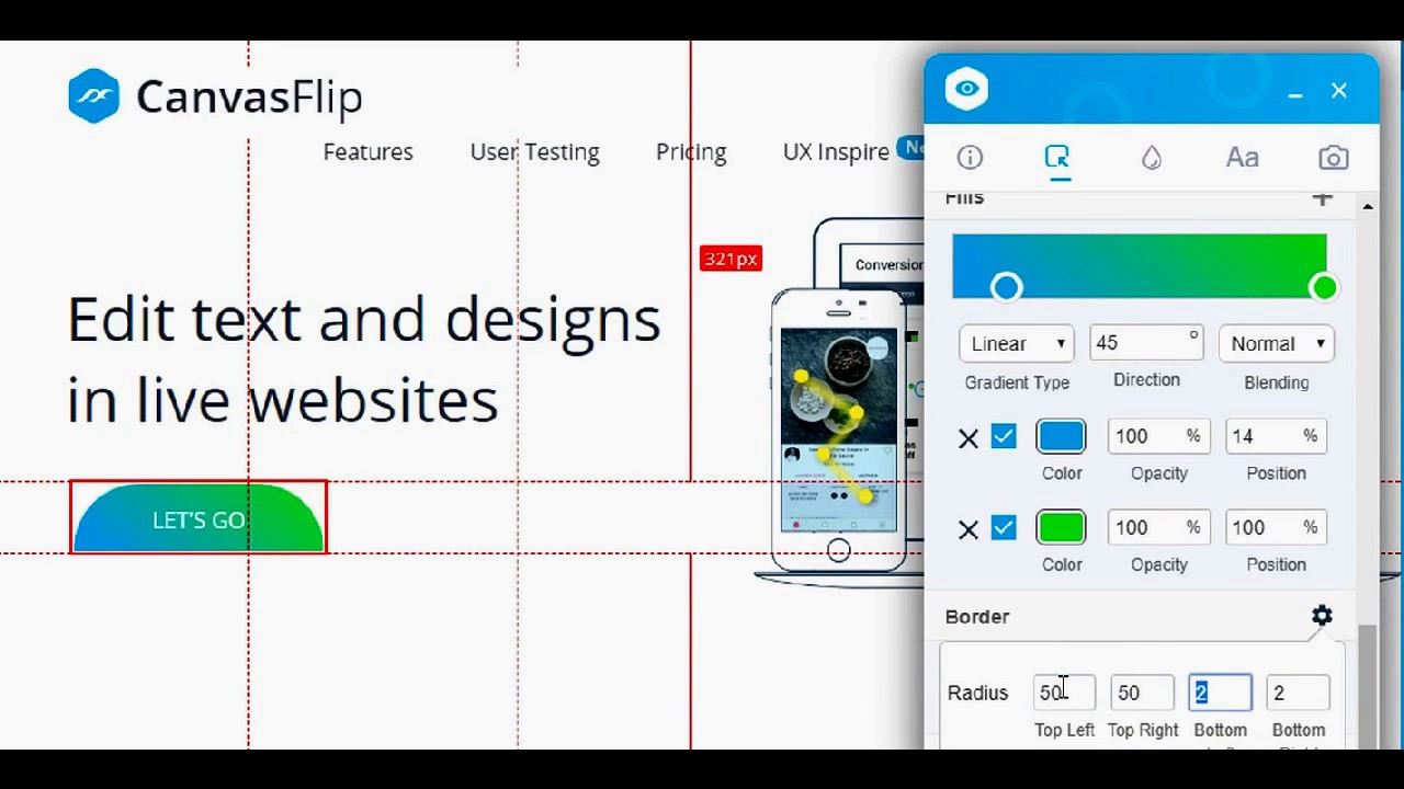 Visual Inspector by CanvasFlip - inspect/edit live websites
