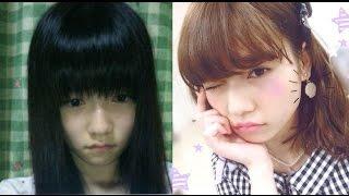 AKB48、ももクロ、モー娘。アイドルすっぴん⇔メイク画像比較 https://yo...