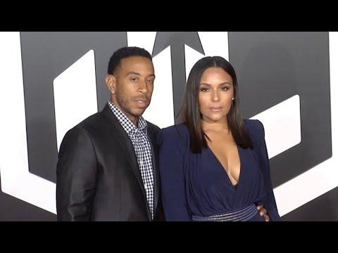 Ludacris and Eudoxie Mbouguiengue at Justice League Los Angeles Film premiere