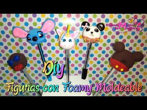 fb2b6b924ea Hola Mis  Magicreadores el día de hoy les traigo ideas con foamy moldeable  para decorar tus lapices