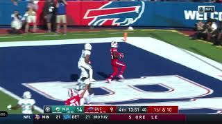 Josh Allen 20 yards touchdown pass to John Brown vs Dolphins | NFL