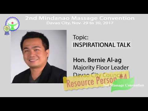2nd Mindanao Massage Convention  Resource Persons