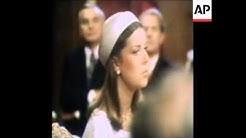 SYND 28 6 78 Wedding of Princess Caroline