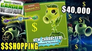 Rare Commando Pea Unlocked! Plants vs. Zombies Garden Warfare Spectacular Pack Shopping + Gameplay