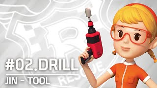 JIN's tool collection | #02.Drill | Robocar POLI