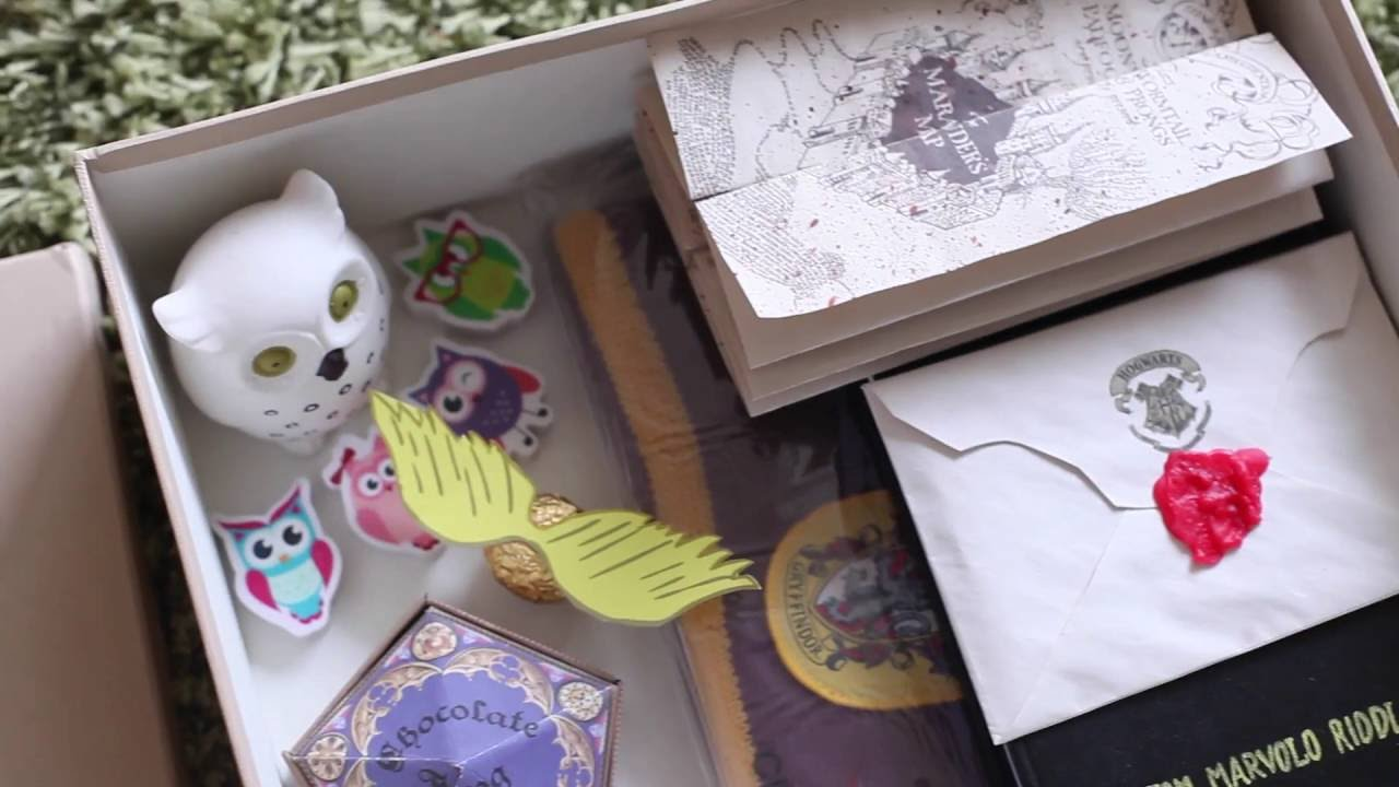 Diy harry potter gift box unboxing youtube solutioingenieria Image collections