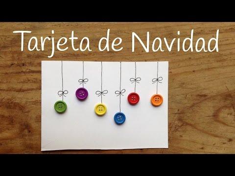 Descubre cómo hacer tarjetas de navidad de manera fácil con botones de colores