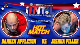 EUROPEAN BATTLE: Darren APPLETON vs. Joshua FILLER: 2019 INTERNATIONAL 9-BALL OPEN: