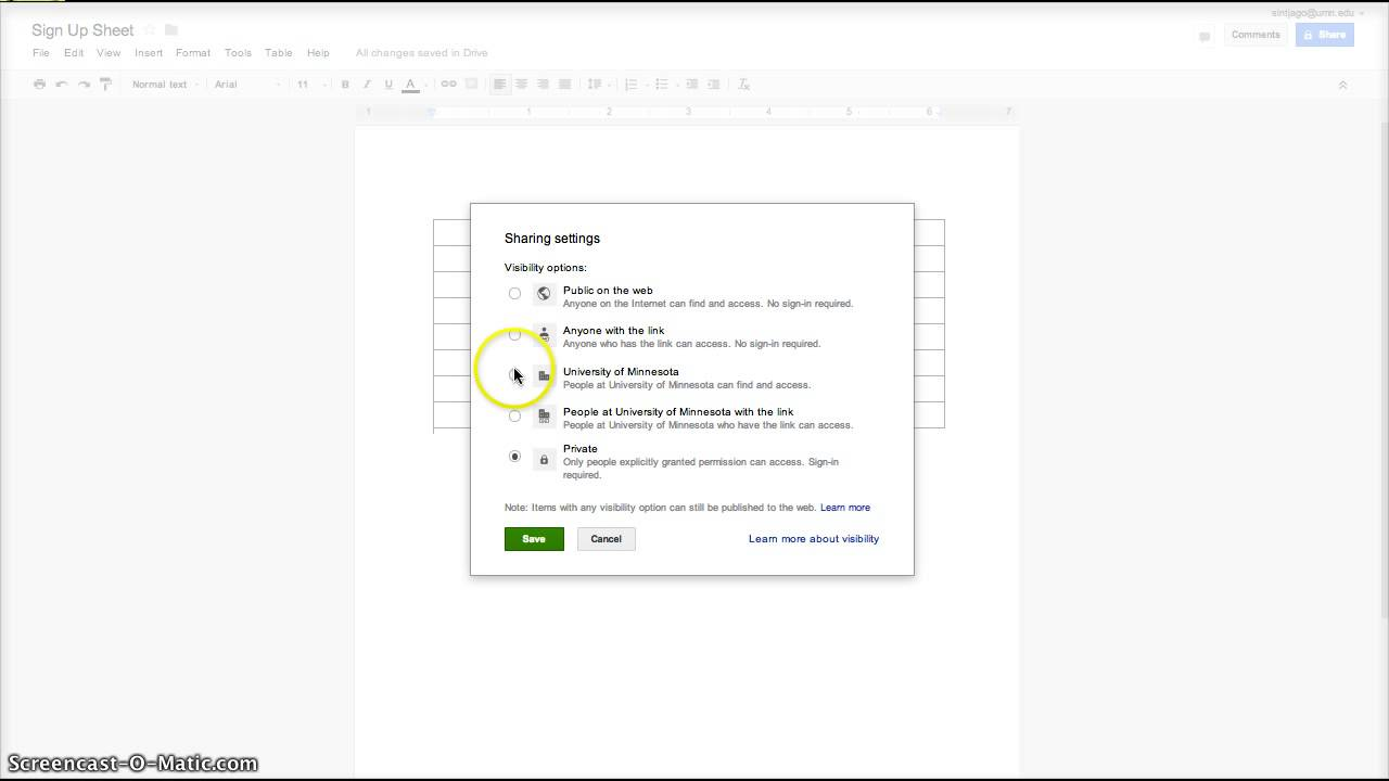 Google Apps Creating A Sign Up Sheet In Google Docs YouTube - Google docs sign in
