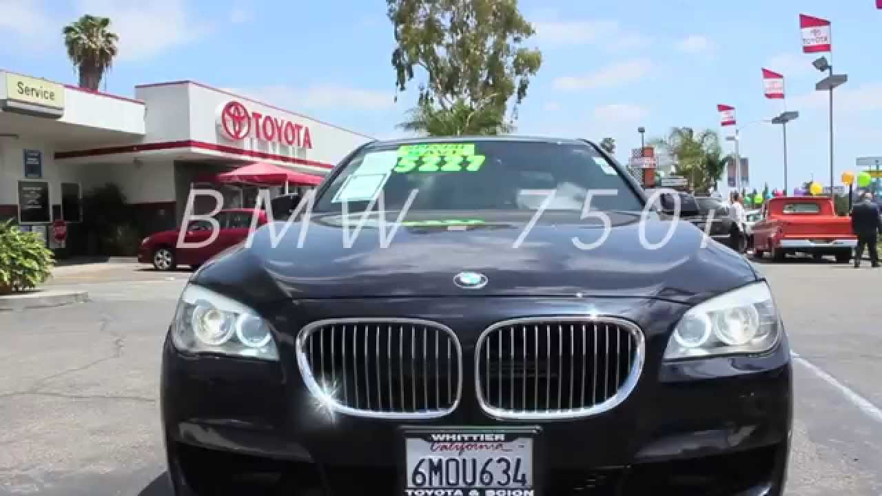 Pre Owned 2011 BMW 750i Twin Turbo Engine 750 Great Price Low Miles Los Angeles Area 888 718 3693
