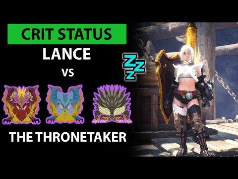 Crit Status Lance vs The Thronetaker (full commentary) - Monster Hunter: World thumbnail