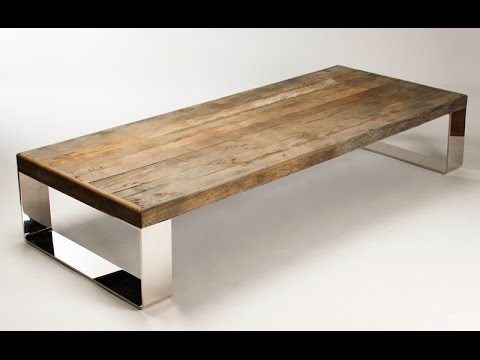 wood and metal coffee table how to make a wood and metal coffee table youtube. Black Bedroom Furniture Sets. Home Design Ideas