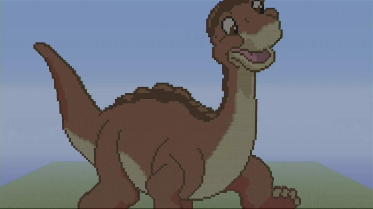 littlefoot minecraft speed build pixel art the land before time