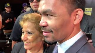 manny pacquiao seconds after faceoff with keith thurman EsNews Boxing