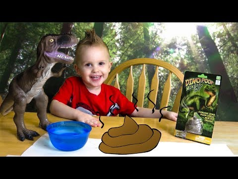 "Kid Plays With ""Mini Dig Kit: DINO POOP"" 