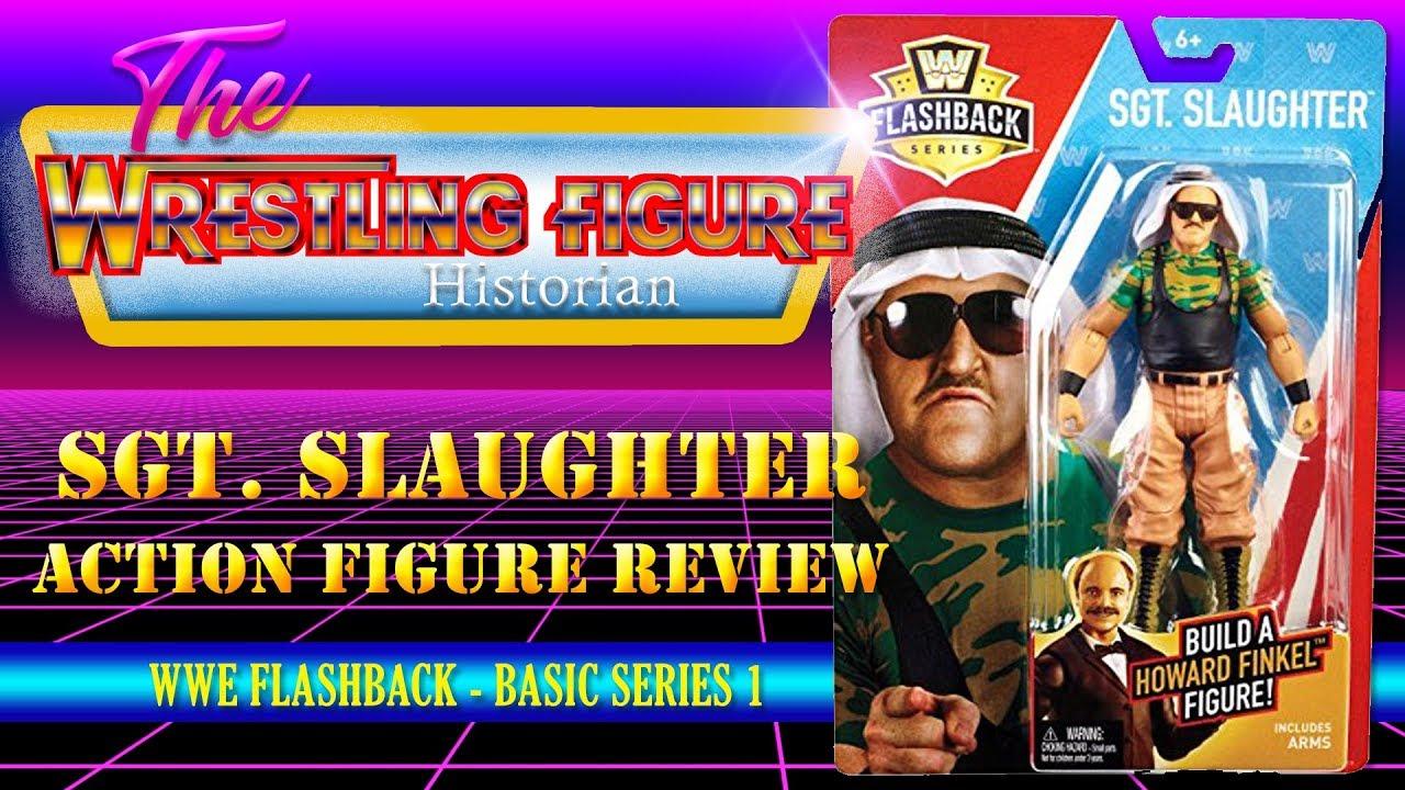 WWE Wrestling Mattel Basic Flashback Exclusive Series Sgt Slaughter Figure