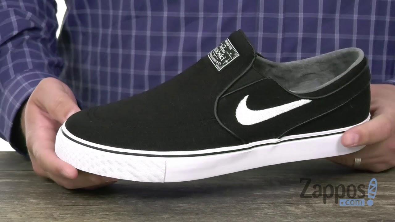 télex Discriminación sexual Abultar  Nike SB Zoom Stefan Janoski Slip-on Canvas SKU: 9044473 - YouTube