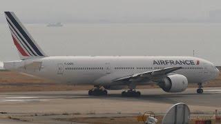 エールフランス航空 ボーイング777-200 関西国際空港 ランウェイ24レフ...
