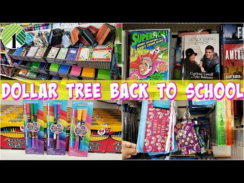 BACK TO SCHOOL AT THE DOLLAR TREE * SHOP WITH ME JULY 2019