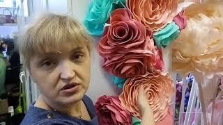 Крепление больших цветов на стену: чудо перфолента!